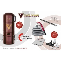 Odkurzacz centralny Cyclo Vac H715 + zestaw Modern