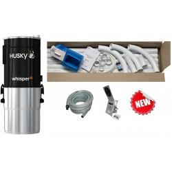 Odkurzacz centralny Husky WHISPER2 + 2x zestaw Jumbo HAH