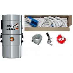 Odkurzacz centralny Husky Evolution + 2x zestaw Jumbo HAH