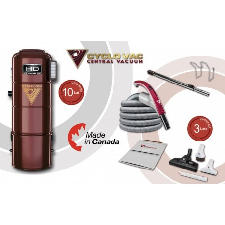 Odkurzacz centralny Cyclo Vac HD 800C + zestaw Modern 7,5m