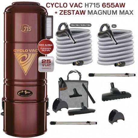 Odkurzacz centralny Cyclo Vac H715 + zestaw Magnum Max